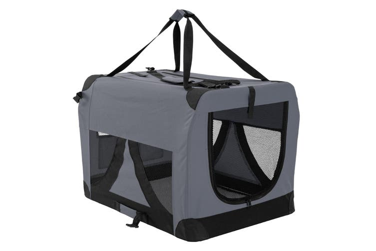 XXXL Portable Soft Dog Crate - GREY
