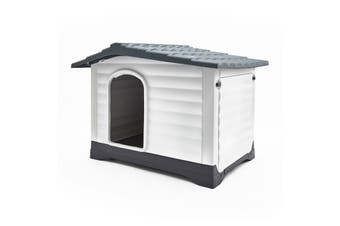 XXL 111 x 84 x 80.5cm Plastic Dog Kennel MOLLY - BLUE