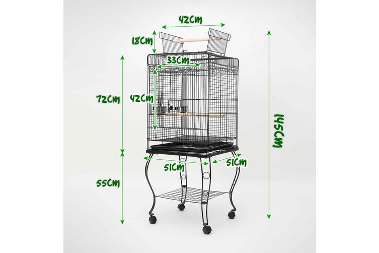 145cm Bird Cage Parrot Aviary ALTO