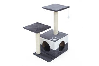 69cm Cat Tree Scratcher MONO - GREY