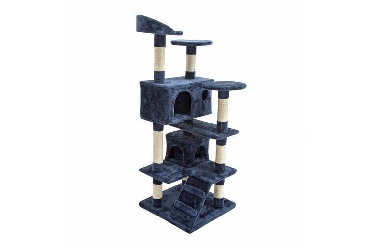130cm Cat Tree Scratcher SOHO - BLUE