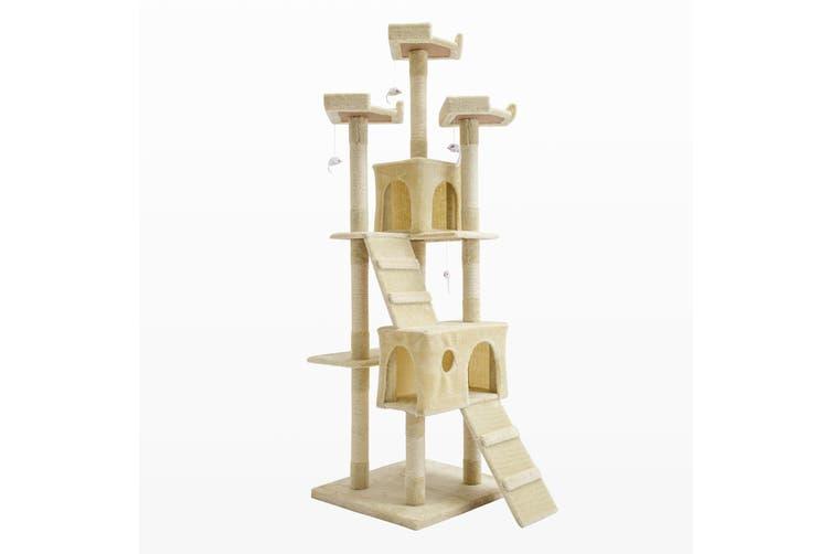 180cm Cat Tree Scratcher JUMBO - BEIGE