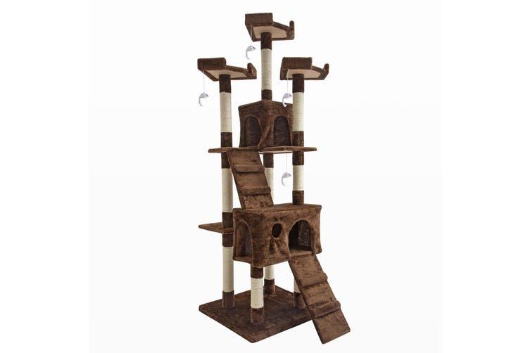 180cm Cat Tree Scratcher JUMBO - BROWN