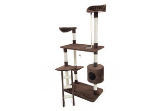 158cm Cat Tree Scratcher FUJI - BROWN