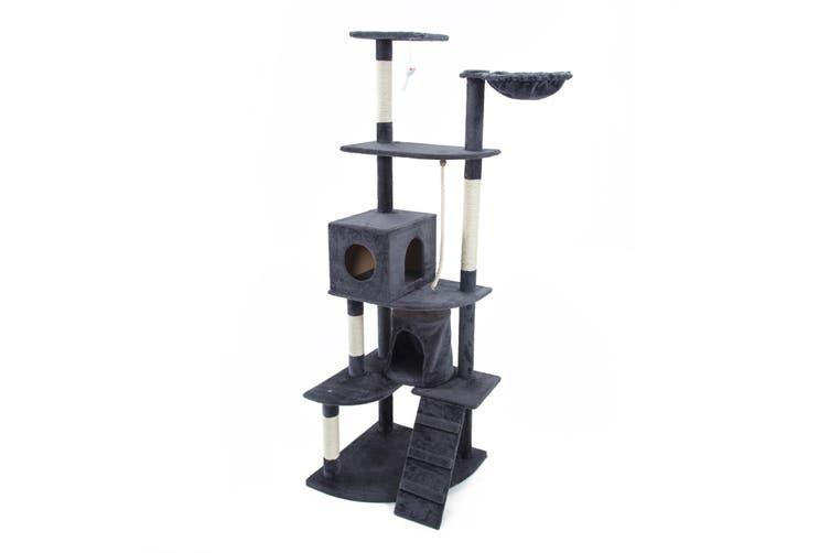 190cm Cat Tree Scratcher ACACIA - GREY