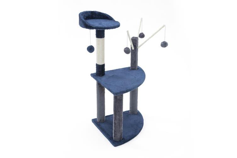 96cm Cat Tree Scratcher LUNA - BLUE