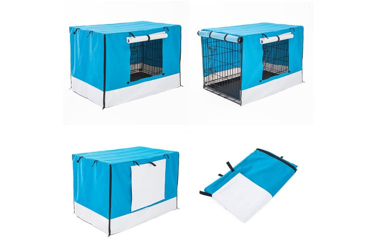 """36"""" Cover for Wire Dog Cage - BLUE"""