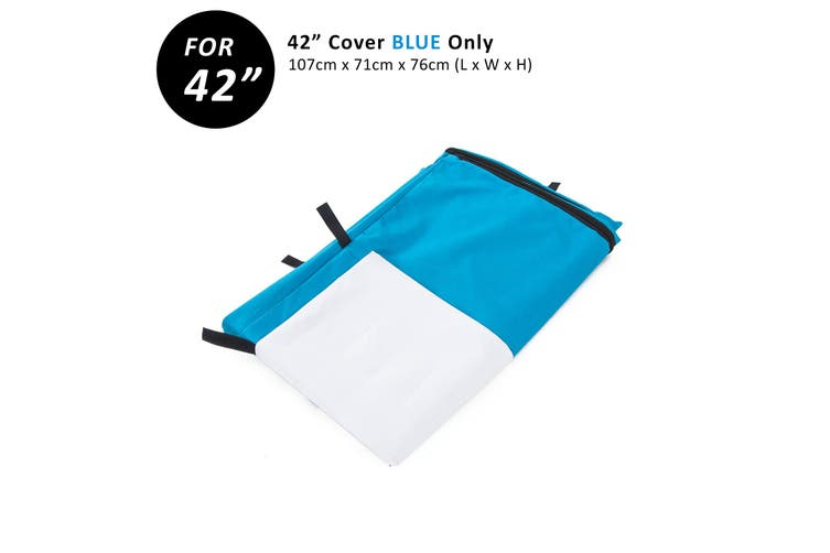 "42"" Cover for Wire Dog Cage - BLUE"
