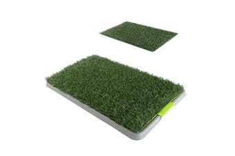 69cm x 43cm Pet Potty Tray With 1 Grass Mat