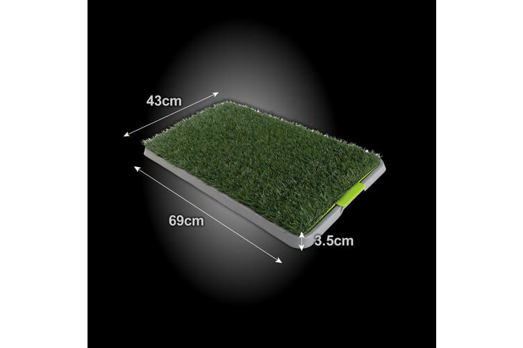 69cm x 43cm Pet Potty Tray With 1 Grass Mat