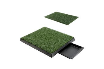 63cm x 50cm Pet Potty Tray With 1 Grass Mat