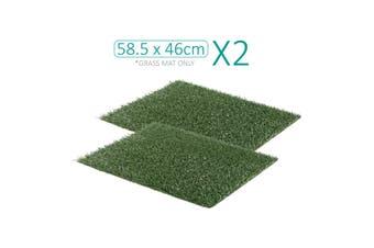 2X 58.5cm x 46cm Grass Mats