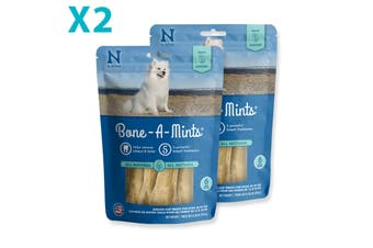 2X Bone-A-Mints Dental Bones Mint Flavor - Medium - 6 pk