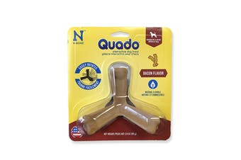 Quado Interactive Bones Bacon Flavor - Average Joe - Medium