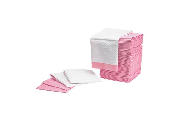 100PCS Pet Toilet Training Pads 7 Layered - PINK