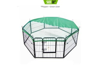 "31"" Heavy Duty 8 Panel Foldable Pet Playpen With Cover"