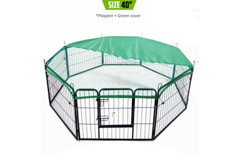 "40"" Heavy Duty 8 Panel Foldable Pet Playpen With Cover"