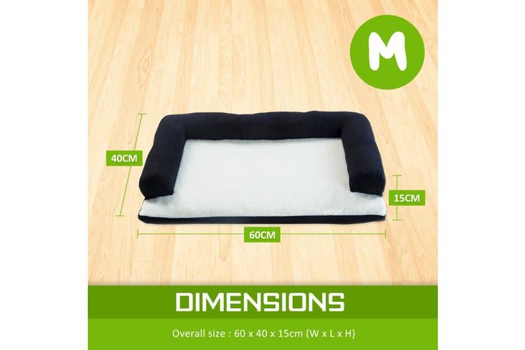 M 60 x 40 x 15cm Pet Couch TUFTY - BLACK