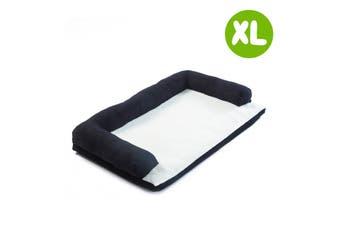 XL 90 x 60 x 15cm Pet Couch TUFTY - BLACK