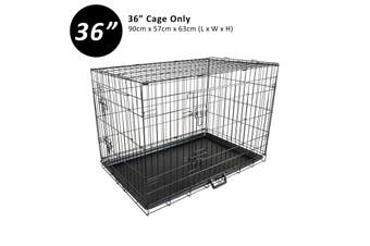 "36"" Foldable Wire Dog Cage with Tray"