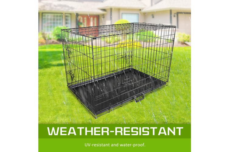 "42"" Foldable Wire Dog Cage with Tray"
