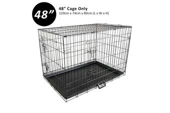 "48"" Foldable Wire Dog Cage with Tray"