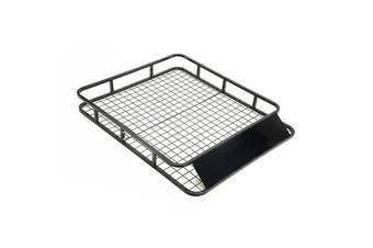121cm Steel Roof Luggage Carrier Basket 4WD - BLACK