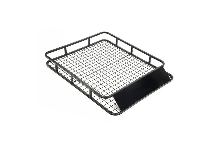 121cm Steel Roof Luggage Carrier Basket 4WD - BLACK