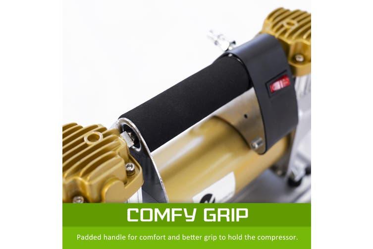 200L/MIN 12V Portable Air Compressor - GOLD