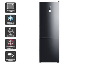 Kogan 323L Bottom Mount Fridge - Black Steel