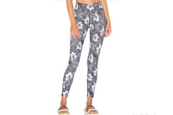 Lorna Jane Women's Symmetry Core Full Length Leggings (Black/White, Size XS)