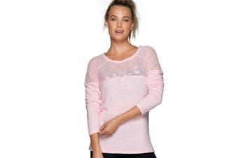 Lorna Jane Women's Valley Long Sleeve Top (Romance Pink Marl)