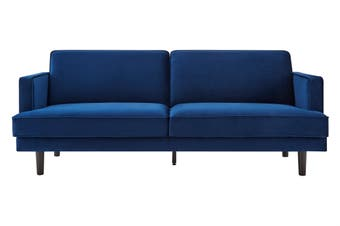 Matt Blatt Charm City 3 Seater Velvet Sofa (Dark Blue)