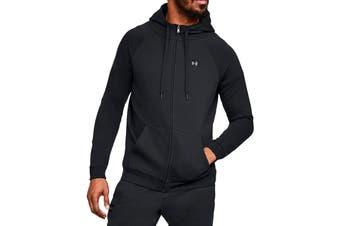 Under Armour Men's Rival Fleece Full Zip Hoodie (Black/Black)