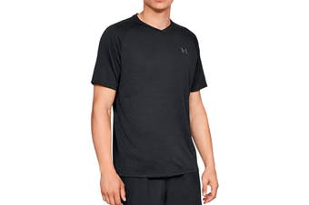 Under Armour Men's Tech 2.0 V-Neck Tee (Black/Graphite)