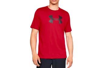 Under Armour Men's Big Logo Short Sleeve Tee (Red/Black)
