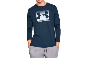 Under Armour Men's Boxed Sportstyle Long Sleeve Tee (Academy/White)