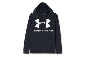 Under Armour Men's Rival Fleece Sportstyle Logo Hoodie (Black/White)