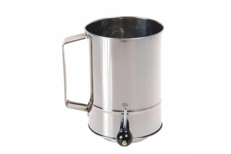 D Line Stainless Steel 5 Cup Flour Sifter With Crank Handle Kogan Com