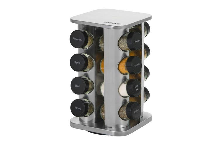 Avanti Revolving Herb and Spice Rack Set 16 Jars