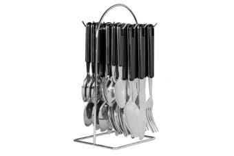 Avanti 24 Piece Hanging Cutlery Set - Black