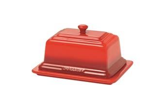 Chasseur La Cuisson Ceramic Butter Dish - Red.