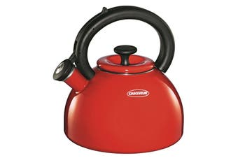 Chasseur Domus Whistling Kettle 2.5 Litre-Red