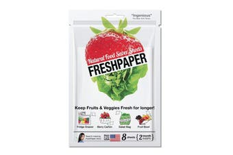 Freshpaper Natural Food Saver Sheets Pack of 4 - Fruit and Vegetables