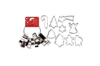 DLine Christmas Cookie Cutters Set 9 on Ring