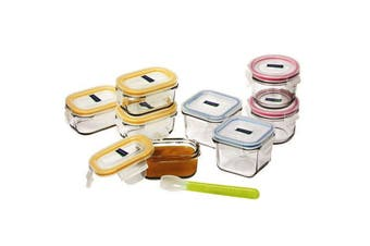 Glasslock 9 Piece Baby Food Container Set With Lids