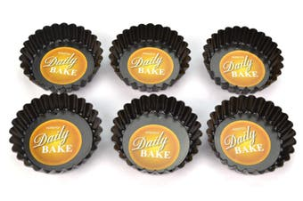 Individual Mini-Quiche Pan With Loose Base  7.5cm x 2cm - Set Of 6