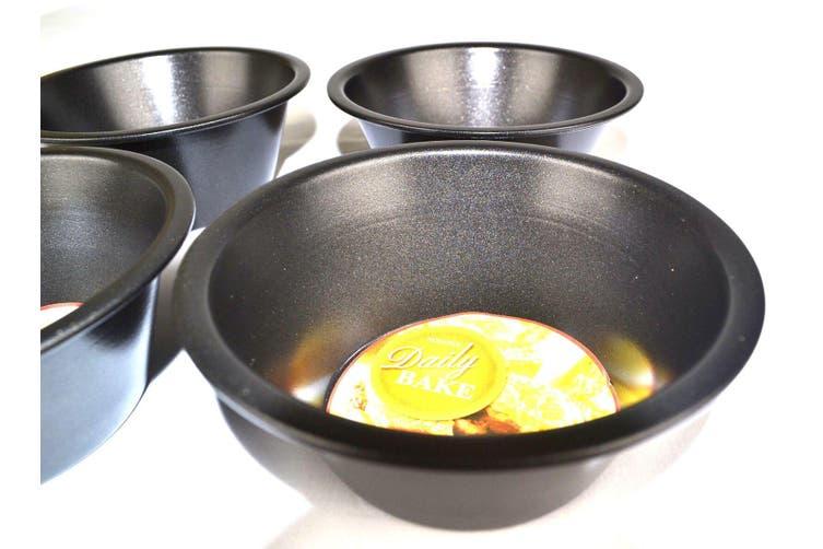 12cm x 5cm Non Stick Mini Pie Pans - Set Of 4