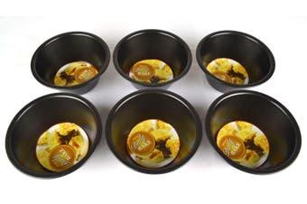 Non-Stick Mini Pie Pans - Set Of 6 - 12 X 5cm