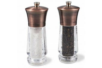 Cole and Mason Salt and Pepper Mill Set Exford Antique Brass 16.5cm